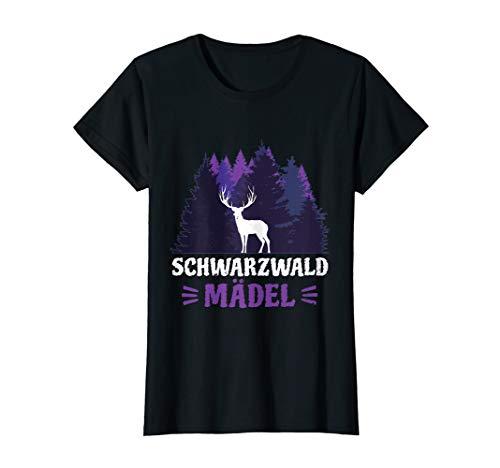 Schwarzwald Urlaub Schwarzwaldmädel Bollenhut Geschenk T-Shirt
