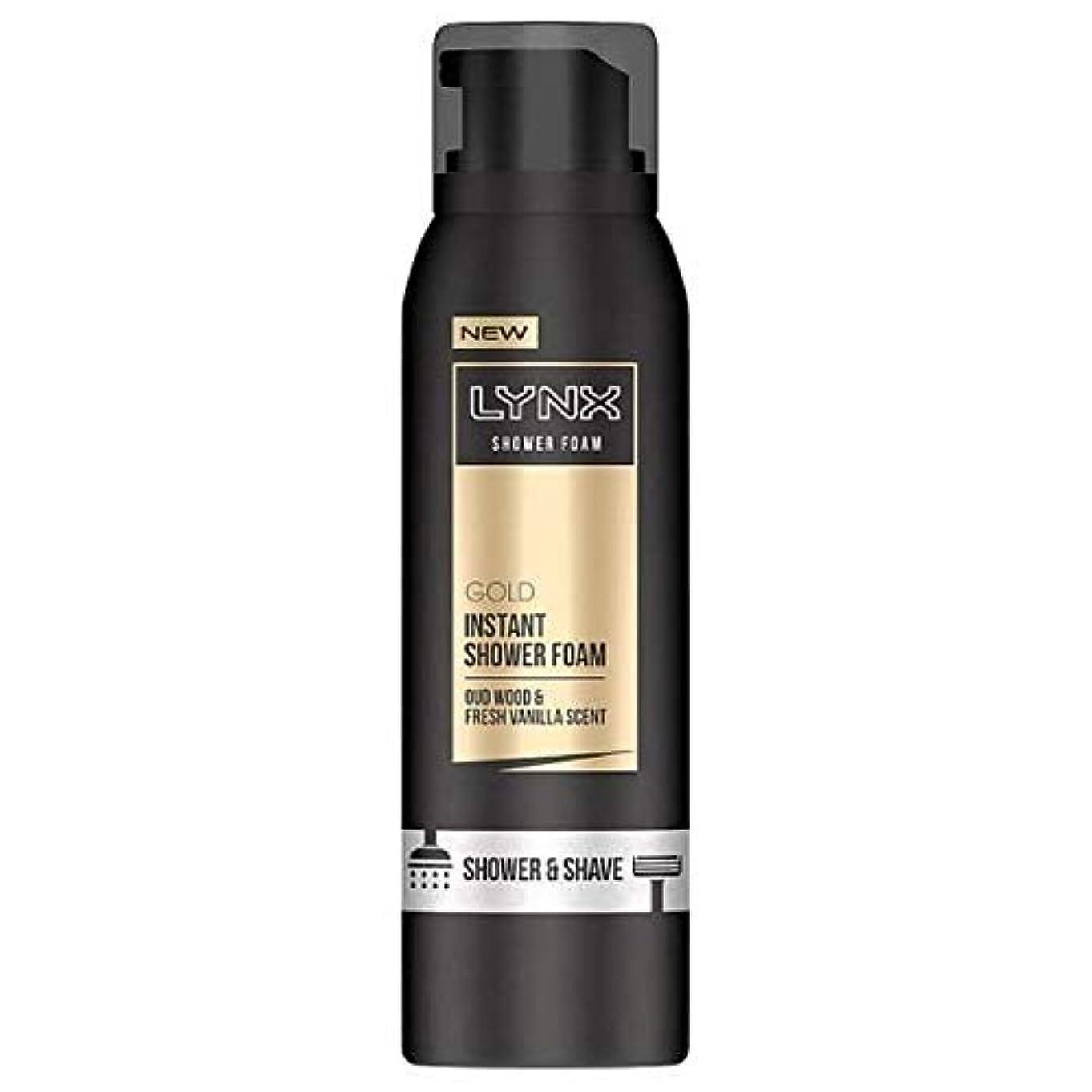 肺ブレーキ頭[Lynx ] オオヤマネコウードウッド&バニラの香りのシャワー&泡200ミリリットルを剃ります - Lynx Oud Wood & Vanilla Scent Shower & Shave Foam 200ml [並行輸入品]