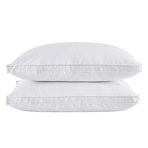 puredown Goose Feather Down Pillow Gusseted Bed Pillows for...