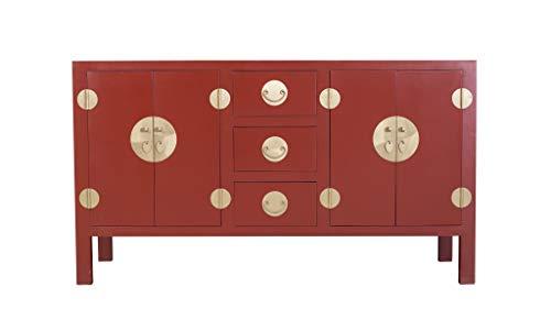 Fine Asianliving Aparador Chino Rojo Rubí - Colección Orientique A160xP50xA90cm