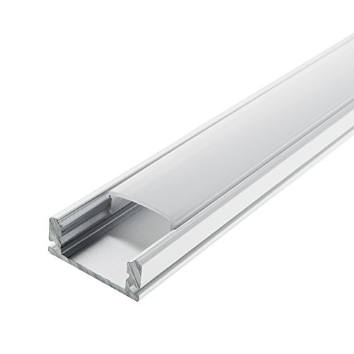 Energmix LED Schiene Aluminium Deckenanbringung Profil A Milchig trüb (opal)
