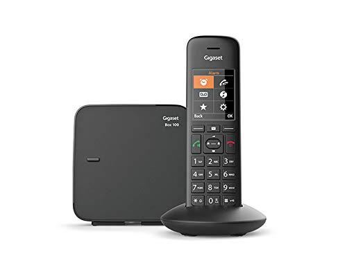 petit un compact Téléphone sans fil Gigaset C570 Solo Noir DECT / GAP sans fil