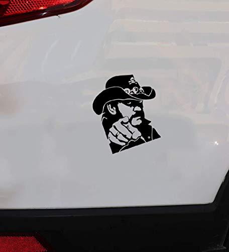 Fenster Stoßstange LKW Karosserie Aufkleber zeigt Lemmy Gitarre 16,3x13,1 cm für Auto Laptop Fenster Aufkleber