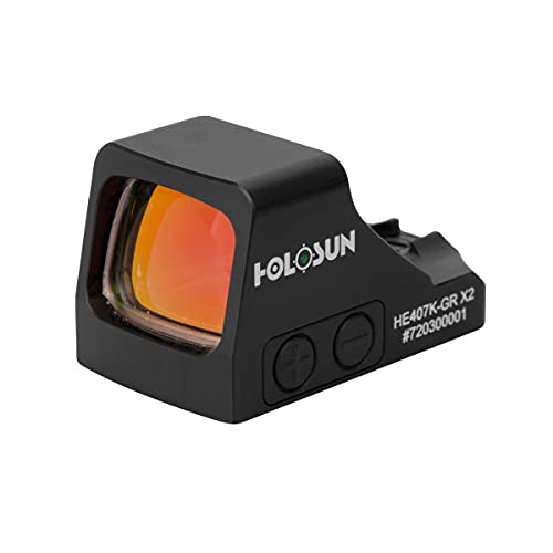 HOLOSUN HE407K-GR X2 Green Dot Reflex Sight (Solar Failsafe...