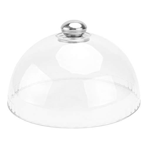 Cabilock Campana de cristal para tartas, 21 x 21 cm, para picnics, camping, barbacoa, Navidad, fiesta de Año Nuevo, decoración de mesa, color blanco