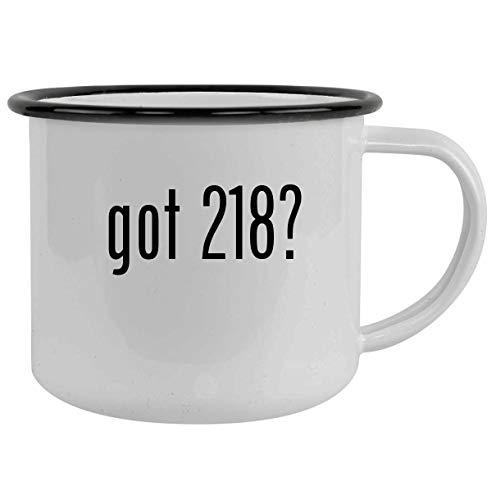 got 218? - 12oz Camping Mug Stainless Steel, Black