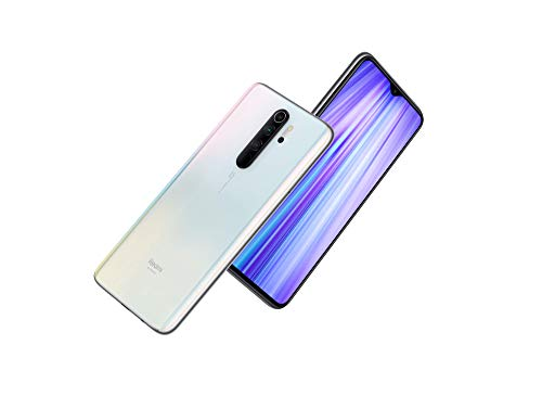 Xiaomi Redmi Note 8 Pro (64GB, 6GB) 6.53', 64MP Quad Camera, Helio G90T Gaming Processor, Dual SIM GSM Unlocked - US & Global 4G LTE International Version (Pearl White, 64GB + 64GB SD + Case Bundle)