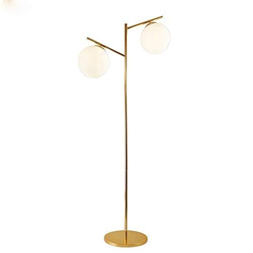 Globe, Lámpara de pie Lámpara de pie LED Nordic Sphere, Lámpara de pie de Poste Alto con Pantalla de Globo de Vidrio Esmerilado de 3 Luces para Sala de Estar, Dormitorio, Oficina, luz de Sue