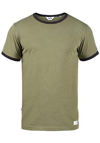 !Solid Manoldo Herren T-Shirt Kurzarm Shirt Mit Rundhalsausschnitt, Größe:M, Farbe:Ivy Green Melange (8797)