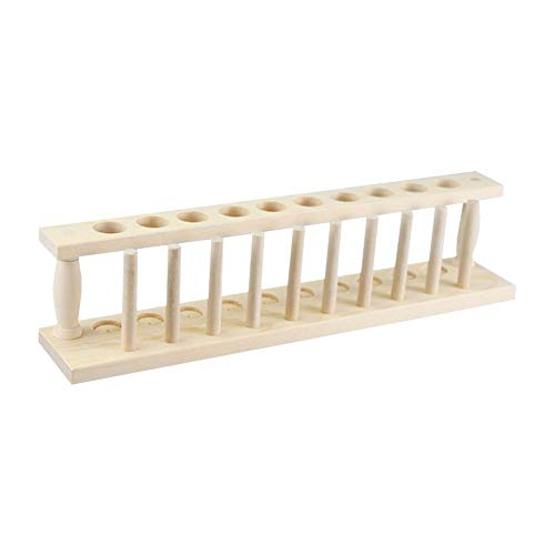 JINZFJG-SX Laboratory Generic Test Tube Rack Wooden Plexiglass Metallic Multi-Functional Test Tube Holders 6-40 Well