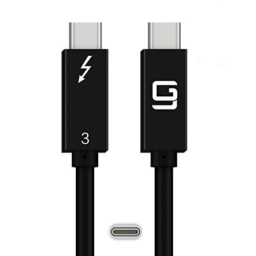 GodSpin USB-C to USB-C Cable (20Gbps) SuperSpeed [Certified] USB Type-C to USB Type-C, 100W Power (USB 3.1 & 3.2) Nylon Braided, Dual 4k or Single 5k @60hz Display (6.6ft/20Gbps)