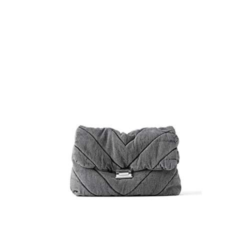 YJZZ Bolsa de Hombro Diseñador Jeans Bolsas Mujeres Cadena de Mezclilla Crossbody Bolsas para Mujeres 2020 Bolsos de Mujer Bolsos de Hombro Mensajero Mujer (Color : 2)