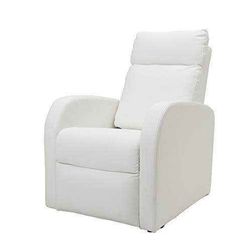 WORLD LASH コンパクト リクライニングチェア 全3色 ホワイト [ リクライニングソファ リラックスチェア ネイルチェア リクライニング ソファ ソファー イス 椅子 チェア チェアー 1人掛け オットマン付き オットマン 一体型