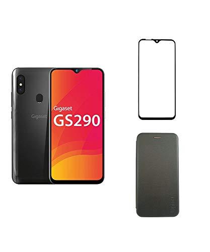 Gigaset GS290 Smartphone (16,0 cm) - 16 MP Frontkamera, Android 9 Pie, 64 GB Speicher, 4GB RAM + EXTRA Hardcover Hülle + Bildschirmschutzfolie