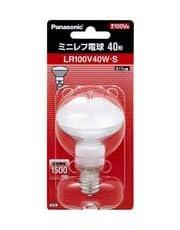パナソニック ミニレフ電球 ホワイト E17口金 50ミリ径 40形 LR100V40WS
