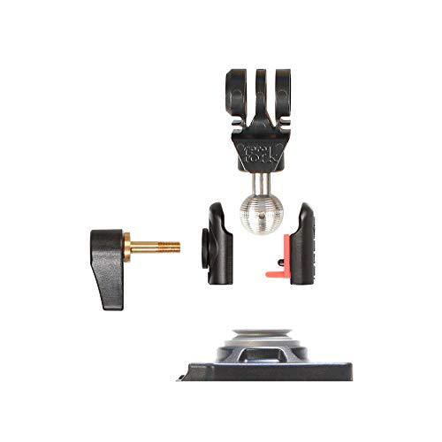 iSHOXS Cobra Swivel Upgrade Module mit ABS ProFork, Aluminium Mini Xtension mit Kugelgelenk, passend für GoPro und kompatible ActionCams