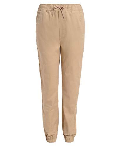 Nautica Boys' Little School Uniform Jogger Pant, Evan Khaki, X-Large(7)