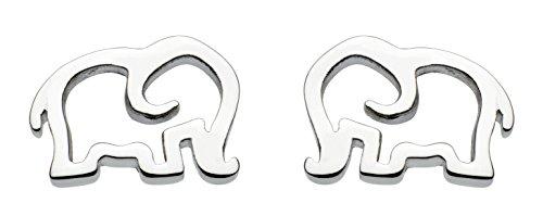 Dew Sterling Silver Elephant Stud Earrings