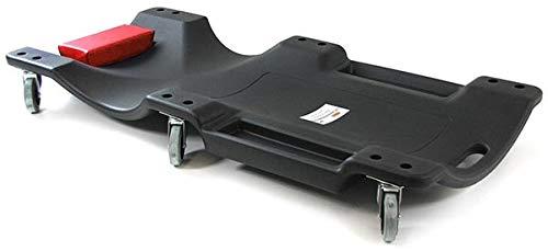 Tenzo-R 37650 Ramroxx Profi Werkstatt Rollbrett Montageliege mit Ablage 100cm schwarz rot