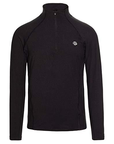 Ternua Mode 1/2 Zip LS M T-Shirt Homme Noir XL
