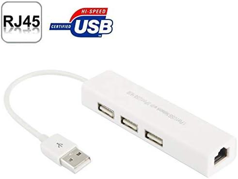 USB Hubs USB 2.0 Ethernet Network Adapter + 3 Ports Portable Hub