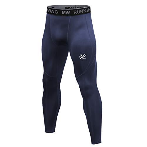 MEETWEE Kompressionshose Herren, Sport Leggings Lange Laufhosen Atmungsaktiv Funktionsunterhose Tights Unterhose