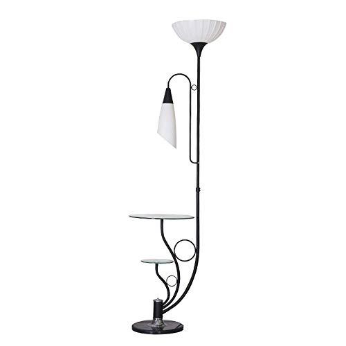 Eenvoudige staande lamp creatieve warm LED vloerlamp met salontafel slaapkamer woonkamer leeslamp, zwart, wit licht, B-D Warmes Licht zwart