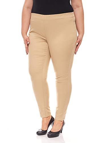 Sheego Twill Schlupfhose Jeggings Jeans Hose Leggings Damen Stretch Lang Kurz, Farbe:Sand;Damengrößen:88