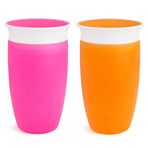 Munchkin Miracle 360 Sippy Cup, Orange/Pink, 10 Ounce, 2 Count