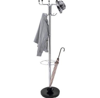 METLEX, Porte-manteaux, 13 crochets Porte-manteaux Porte-parapluies Hall Porte d'entrée de bureau - Chrome (Argent) - MX3078 SL