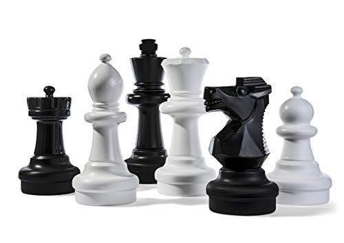 Kettler Riesen-Schachfiguren Komplett-Set mit 63,5 cm hohem König – Weiß und Schwarz