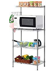 LANGRIA 3 Tier Microwave Stand Storage Rack,...