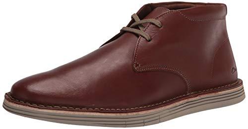 Clarks Men's Forge Stride Chukka Boot, Dark Tan Leather, 9