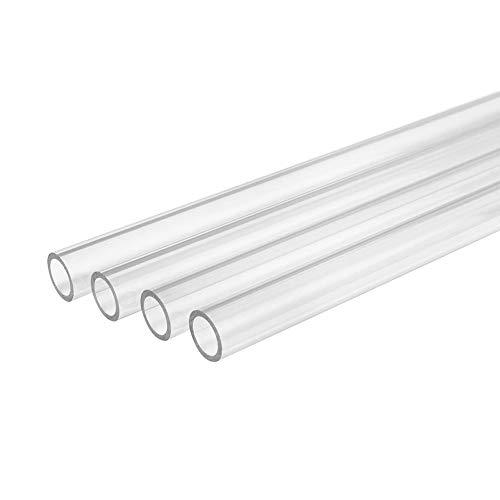 Dumadf Acryl Plexiglasrohr, 4 Stück transparentes Acrylrohr, für Aquarium Aquarium Rohr und DIY Tools Out Durchmesser 12mm