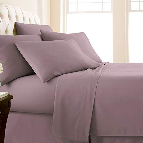 Vilano Springs, 6-Piece, 21-Inch Extra Deep Pocket Sheet Set, Premium Quality, Easy Care, Shrinkage Free Sheet Set with 1 Flat Sheet, 1 Fitted Sheet, 4 Pillowcases, Lavender, Full