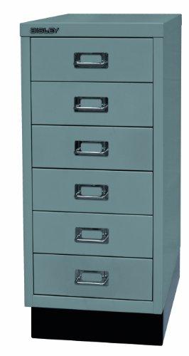 BISLEY Schubladenschrank 29 aus Metall | Schrank mit 6 Schubladen und Sockel | Büroschrank DIN A4 |...