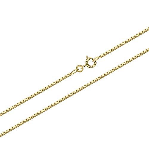 NKlaus 36cm 333er gelb Gold Kette Venezianer Kette Veneziakette Collier 0,6mm 0,7g 9020