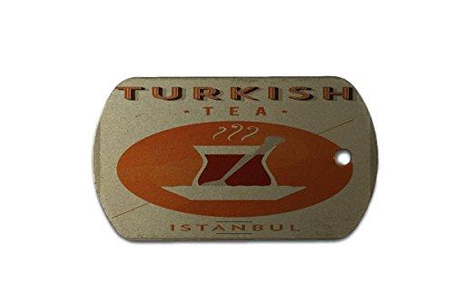 LEotiE SINCE 2004 Hundemarke Erkennungsmarke Retro Limonade Küche Türkischer Tee Bedruckt