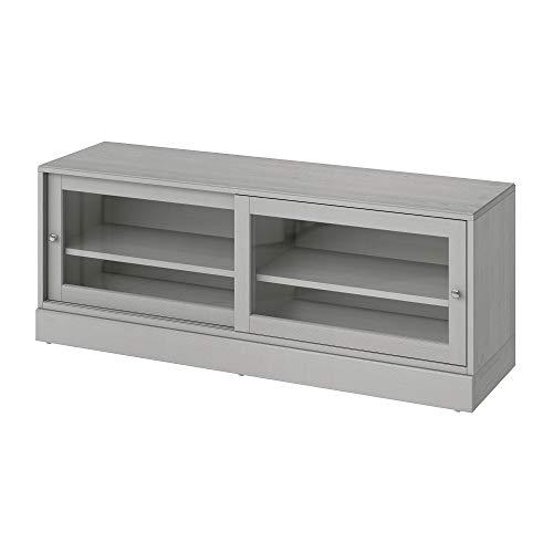 HAVSTA Banco de TV con zócalo 160x47x62 cm gris