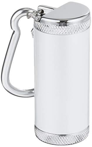 アドミラル産業 携帯灰皿 シリンダー5 カラビナ付き ホワイト 81590012