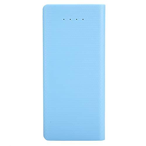 Caja de energía móvil portátil, carga rápida ABS azul claro Mini portátil 8 x 18650 Caja de cargador de batería de bricolaje Sin indicador de soldadura Pantalla de visualización Caja de energía móvil