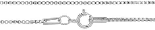 Box Chain Sterling Silver 1mm 18
