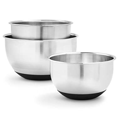 Sur La Table Non-Skid Stainless Steel Mixing Bowls KF-KF-150904SSL, Set of 3
