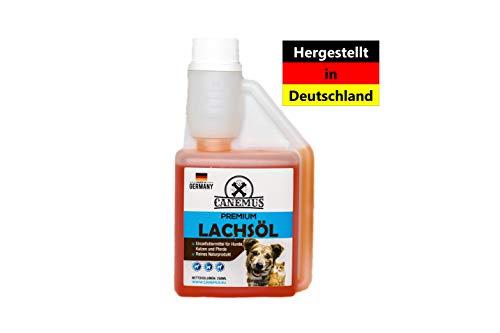Canemus Omega 3 Lachsöl 250ml -Fischöl für Hunde,Katzen und Pferde
