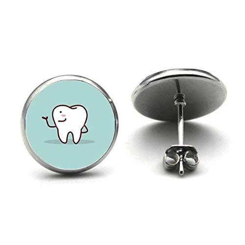 Dentista Dental Glass Stud Pendientes Dental Asistente Regalo Dental Cuidado Dental Dentista Enfermera Moda Pendiente Niñas Regalo