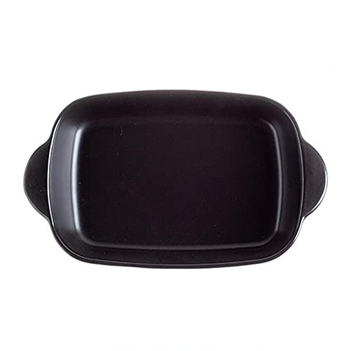 1 Piece Nordic Bakeware Binaural Baked Rice Bowl Baking Sheets Nonstick Oven Nonstick 9.5 Inches Black