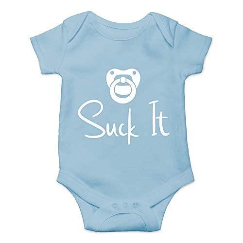 Axige888 Chupete para recién nacido, gracioso, idea de regalo punk, lindo bebé de una sola pieza