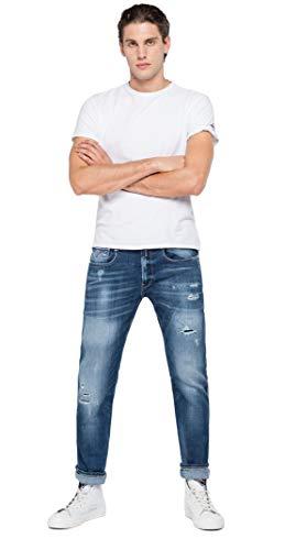 Replay Herren Anbass Jeans, 9 Medium Blue, 32/32