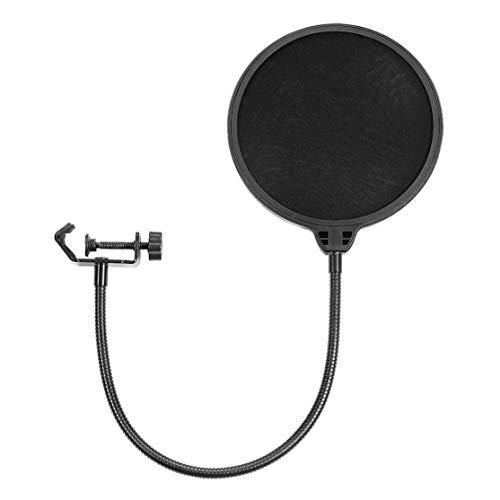 Filtro pop para micrófono Yeti, accesorio de piezas de audio profesional, prevención de reventones de 1 pieza, anti-spray, red, anti-agua Kaemma(Color:black)