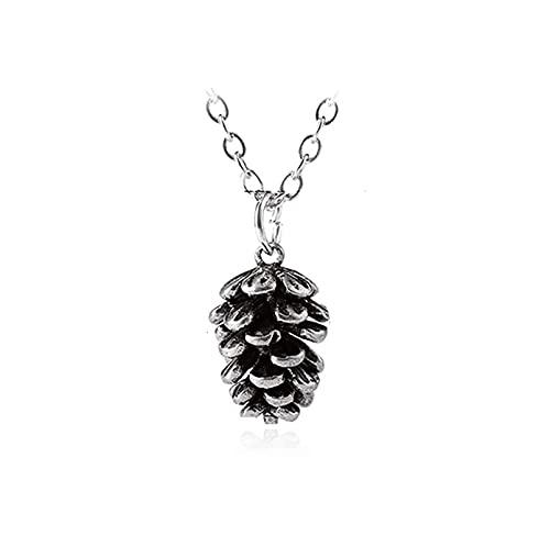 Mode Kiefer Nuss Pflanze Probe Anhänger Halskette für Frauen Metall Halsreif Eichel Tannenzapfen Kette Halskette Schmuck Zubehör Geschenk